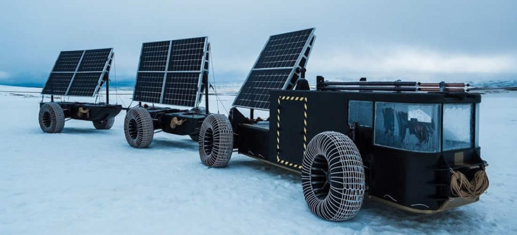 Solar Voyager made from recycled plastic set for Antarctic expedition