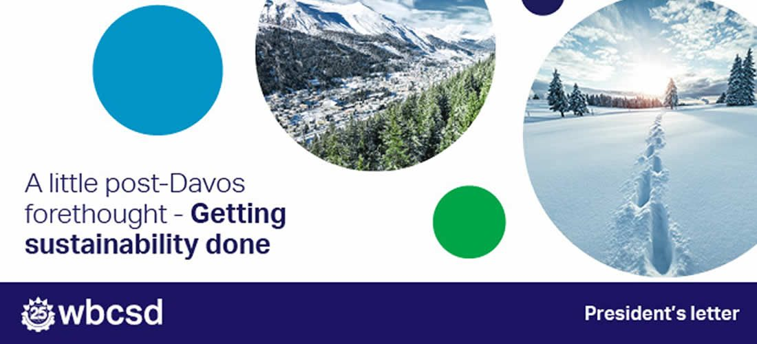 President's letter: A little post-Davos forethought – Getting sustainability done