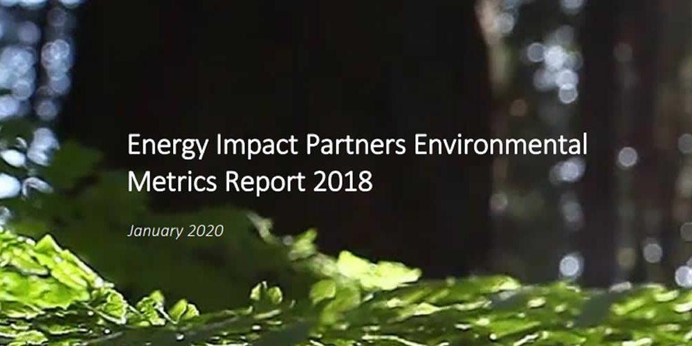 Zpráva: Energy Impact Partners Environmental Metrics 2018 (anglicky)