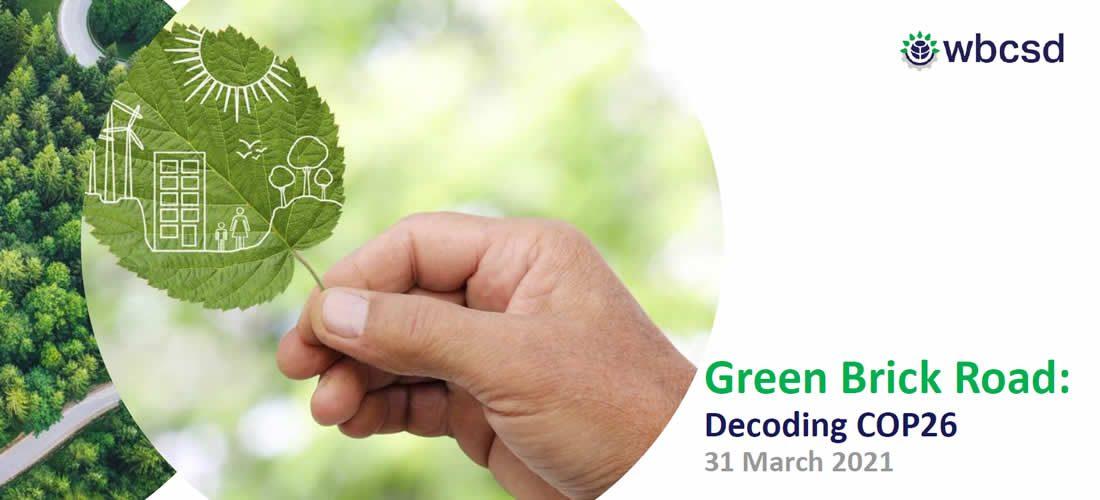 COP 26 Decoding: prezentace činností WBCSD (Green Brick Road)