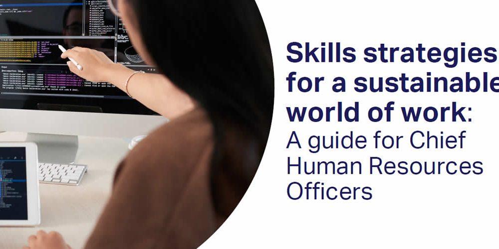 Strategie dovedností pro udržitelný svět práce: Průvodce pro vedoucí pracovníky lidských zdrojů (anglicky)