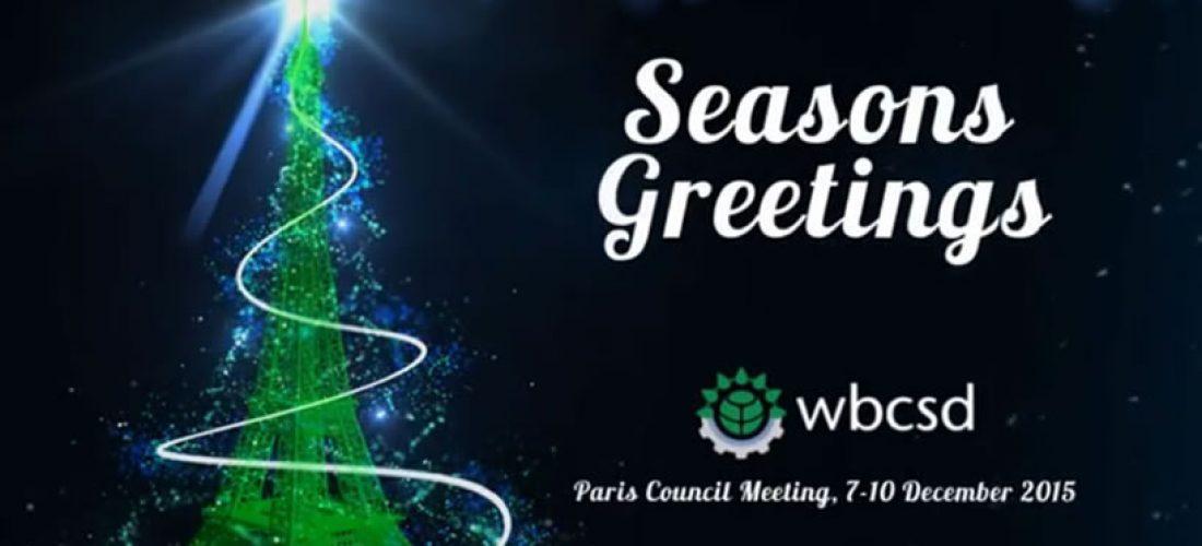 Season Greetings from WBCSD