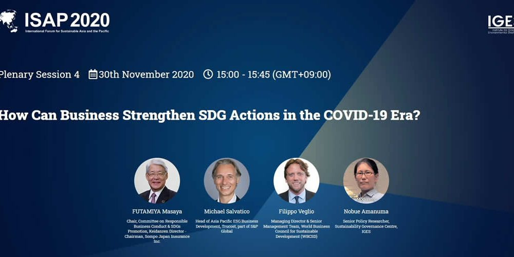 How can business strengthen SDG action in the COVID-19 era?
