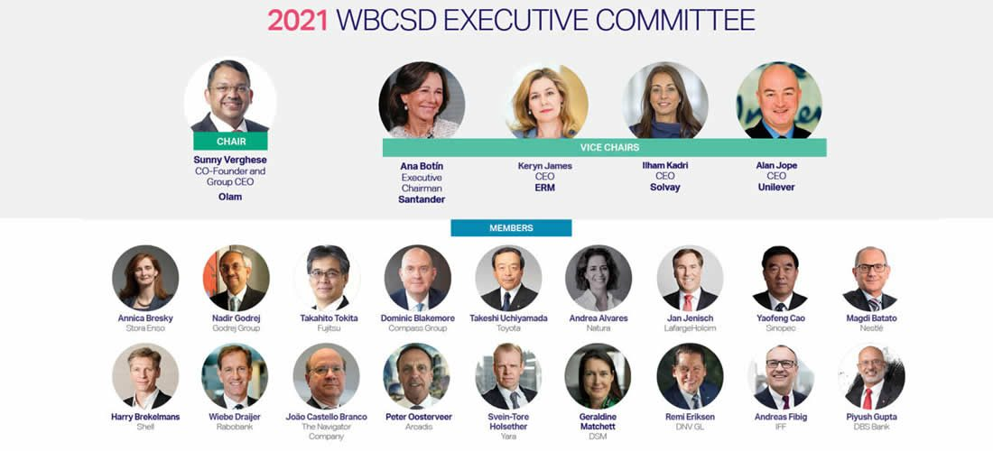 WBCSD appoints five additional business leaders to its Executive Committee